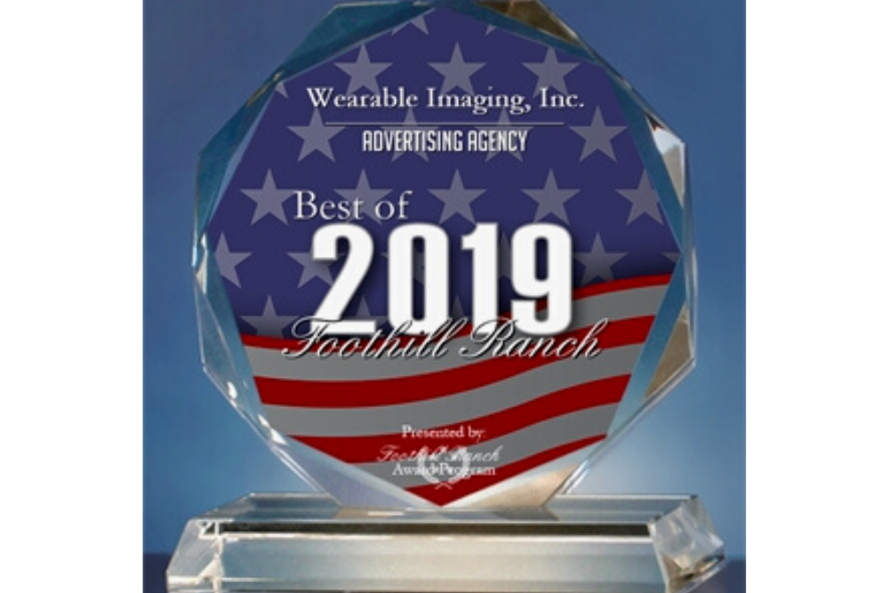 Wearable Imaging, Inc. Receives 2019 Best of Foothill Ranch Award